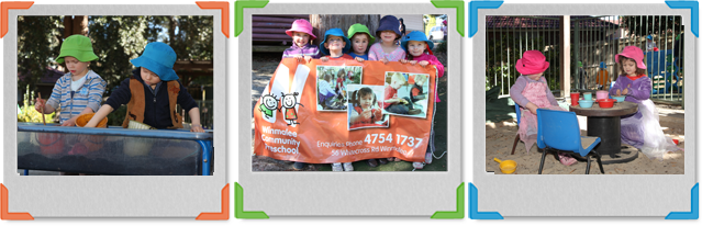 Children holding banner
